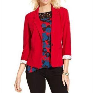 Kensie Rebekah dark coral blazer